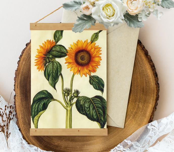Sienas dekors - Vintage Sunflower Hans Simon